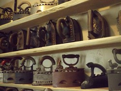 Ritka Antik 100db vasaló gyűjtemény  vasalók Réz öntöttvas