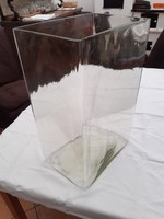 Antik üveg tároló edény különlegesség