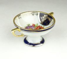 0X881 Régi jelzett,aranyozott porcelán vitrintárgy