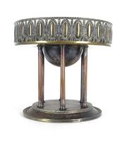 0X879 Gyönyörű antik réz asztalközép kínáló