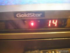 Retro Tv újszerű GOLD STAR nyaralóból 1975 eredeti plexi képernyővédővel keveset használt