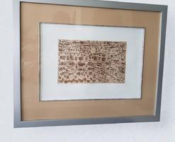 Gyarmathy Tihamér: Diomenziók, rézkarc, 1969, 20 x 33 cm