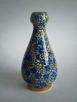 Keleti(es), aranyozott, jelzett porcelán vázácska