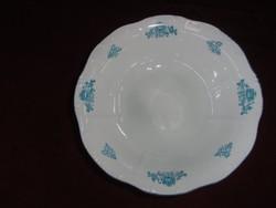 Zsolnay porcelán köretes tál, átmérője 24,5 cm. Dombor nyomott.