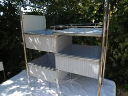 Rozsdamentes acél - pasztell színű - vízhatlan vászon - összecsukható nagy tároló 85 x 39 x 39 cm