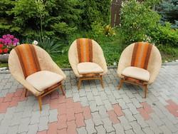 Retro kagyló fotelek a 60-as évekből -