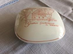 Metzler&Ortloff porcelán doboz Goethe háza Weimar