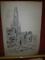 1956, szignós grafika, Kutassy I.F., Kutassy Imre Ferenc