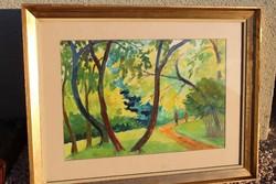Szilágyi Ilona akvarellrajz