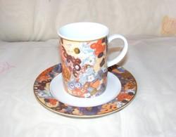 Gustav Klimt Lilien porcelán bögre és tányér