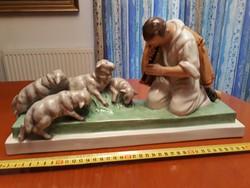 Kukorica Jancsi - nagyon ritka antik festett herendi porcelán