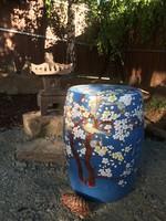 Kínai porcelán ülőke, dobszék, keleti, japán, ázsiai