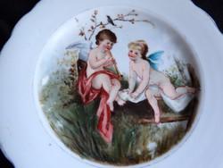 Antik süteményes tányérok kerubokkal