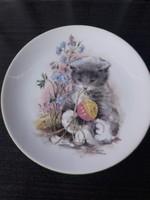 Bareuther Porcelán Dísztányér