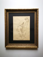 Kacziány Aladár akt grafika festmény