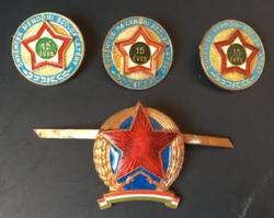 Kádár önkéntes rendőr és rendőr jelvény, sapkarózsa