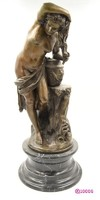 """""""FÜRDŐZŐ EGY FOLYÓ KÖZELÉBEN"""" 19. századi bronz szobor Falconet után"""