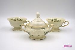 Német kézzel festett porcelán kávéskészlet 1930-as évekből.