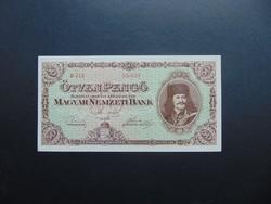 50 pengő 1945 D 012 Nagyon szép bankjegy !
