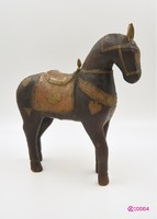 Kézzel faragott indiai fa lovacska / 1940