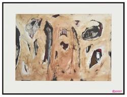 Pál Csaba Pál Munkácsy-díjas kortárs festőművész képe, nonfiguratív festmény, akvarell tus technika
