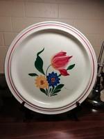 Saargemünd /Sarreguemines virágos fajansz tál, tányér