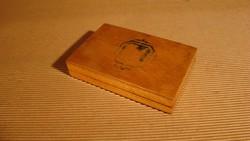Régi fadoboz - bélyegzőpárna doboza