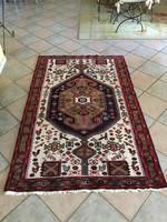 Gyönyörű élénk iráni mashadi  kézicsomózású szőnyeg 130*210 cm