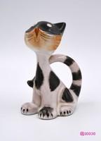 Festett kerámia cica