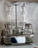 Olaj-ecet-fűszertartó,üveg
