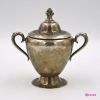 1872 Bécsi fedeles historizáló ezüst cukortartó