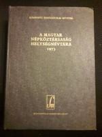 A Magyar Népköztársaság helységnévtára 1973 KSH