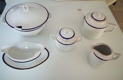 Zsolnay Art Deco porcelánkészlet