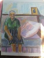 Varga Ferenc tempera/pasztell/színes grafika, kb.60x44, festőpapír