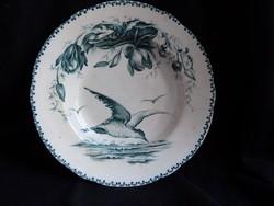 Tärna - antik fajansz tányér sirály motívummal