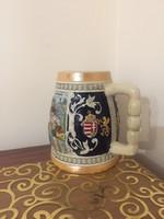10 Ft-ról!Magyar címeres sörös korsó! Nagyon szép!