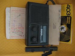 Sokol rádió eredeti papírjaival