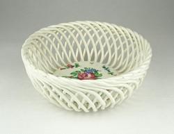 0X828 Régi kézzel festett porcelán fonott kosár
