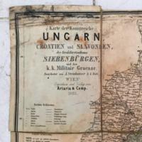 Magyar Királyság térképe 1865-ből