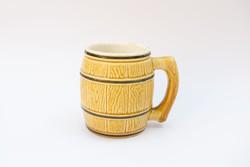 Gránit Kispest - Gourmet feliratos bögre - antik porcelán hordó bögre