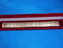 Arany két színű 14k női karlánc   23.2 gr