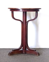 0X906 Antik jelzett bécsi Thonet körasztal