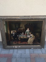 10 Ft-ról! Antik festmény! Kató,1926!