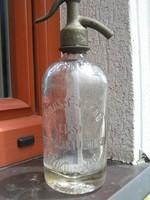 Eredeti álapotú  fél literes  SCHUST  szódásüveg  eladó