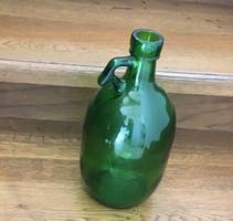 Nagy Zöld Üveg Demizson Vintage