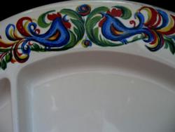 Retro Villeroy&Bock kakasos osztott mártogatós tányér,tál