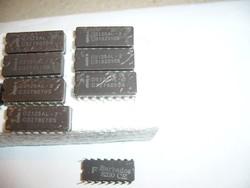 Lomok- INTEL D2125AL-2 1983-AS GYÁRTMÁNY IC Static RAM 1Kx1 CDIP-16 VINTAGE RARE antik cucc
