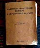 Magyarország Néprajzi térképe 1919.Gróf Teleki Pál szerkesztésében