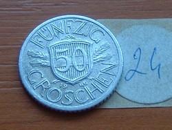 AUSZTRIA OSZTRÁK 50 GROSCHEN 1946 ALU. 24.