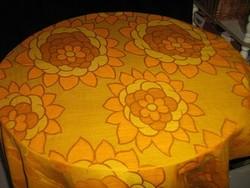 Csodaszép vintage aranysárga virágos függöny